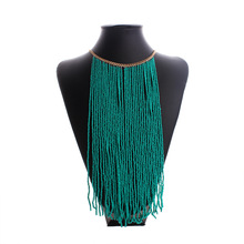 Brin Déclaration Big Maxi Collier Or Bohème Collier Boho Multicouche Antique Vintage Long Gland Collier Femmes Bijoux