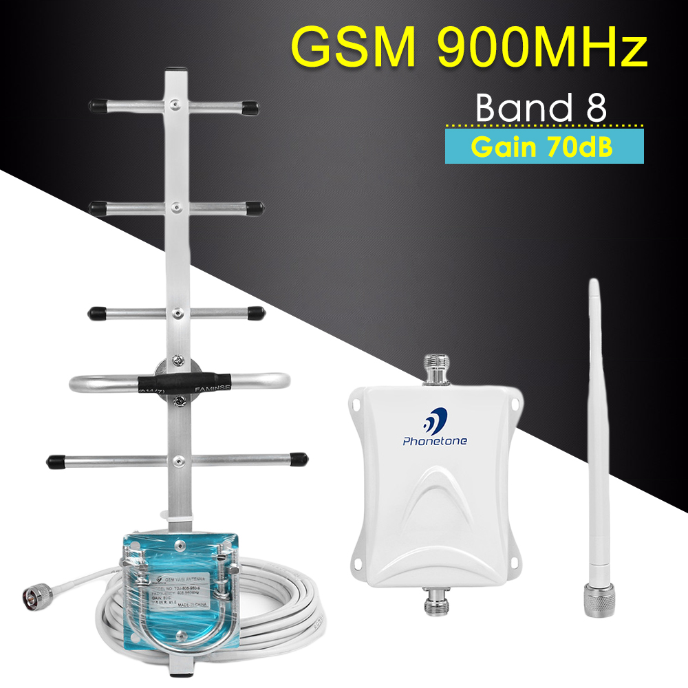 GSM 900MHz Amplifier GSM Mobile Signal Booster Band 8 Celular Signal Repeater Cellphone Amplifier 2g Booster 65dBi 2G Repeater
