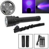 UV taschenlampe für finden skorpion uv-licht lampe 5x LED Tauchen taschenlampe für Meer suche Bernstein Verwenden 2x18650 batterie