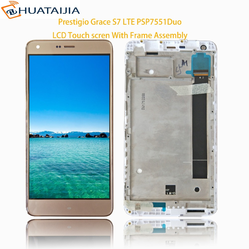 Prestigio Grace S7 LTE PSP7551Duo PSP 7551 DUO LCD Display Touch screen digitizer panel sensor lens glass Assembly 5.5 everybody s golf 2 psp