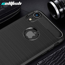 Soft Silicone Case for iPhone XR XS MAX Ultra Thin Carbon Fiber TPU Rubber Mobile Phone Cover for Coque iPhone 6S 7 8 Plus Cases(China)