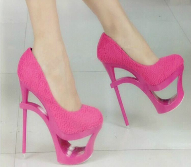 ФОТО Alien Contact 16cm Hentian high Nightclubs fun heels European and American high with Thick waterproof shoes