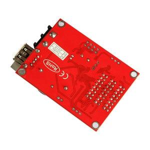 Image 5 - Huidu hd u60 P10 単一色およびデュアルカラー led プログラマブルサインコントローラ、 u ディスク通信デジタル LED 移動看板
