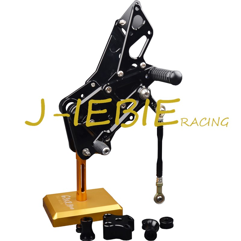CNC Racing Rearset Adjustable Rear Sets Foot pegs Fit For KTM DUKE 125 200 390 2012 2013 2014 2015 2016 BLACK for 2012 2015 ktm 125 200 390 duke motorcycle rear passenger seat cover cowl 11 12 13 14 15