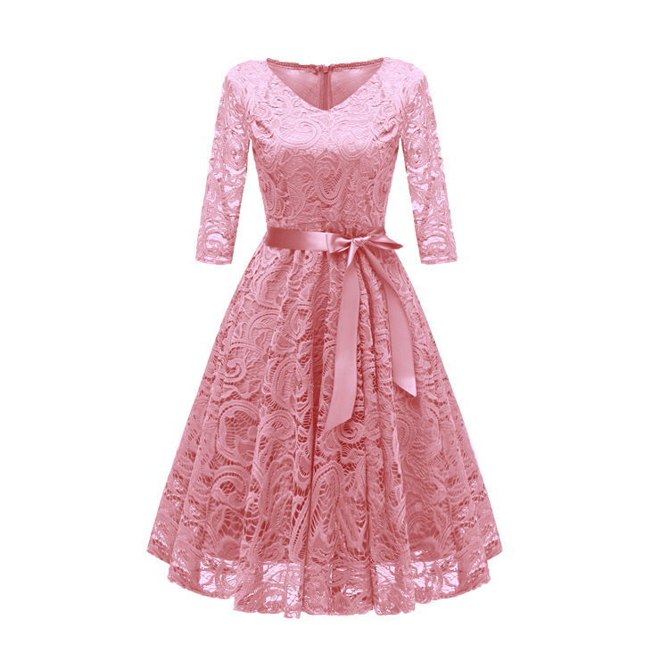 Image 2 - Autumn Homecoming Dresses CG00116 New Arrival Winter Lace A line V neck Cheap Short Cocktail Party Dresses with SleevesHomecoming Dresses   -