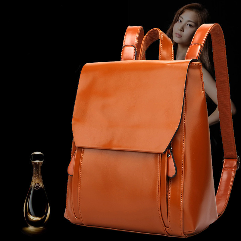Genuine leather Cowhide Backpack brand 2017 women Travel shoulder bag School Bags For Teenagers Girls High-end mochila