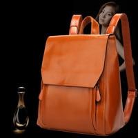 100 Genuine Leather Free Shipping Cowhide Backpack Shengdilu Brand 2016 Women Shoulder Bag School Bag High