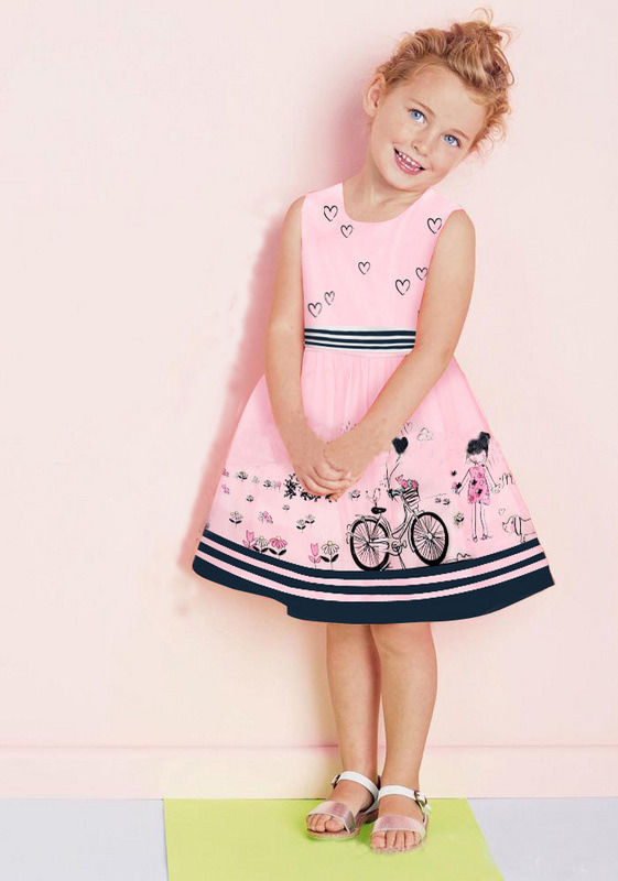 Pink Baby Kids Girls Princess Party Bubble Beauty Anime Formal Dress Fit 2-7Y