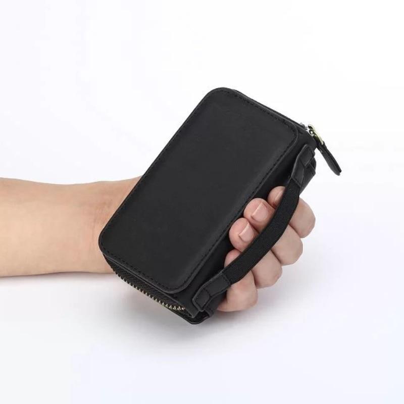 Multi Fungsi Zip Dompet tas Ponsel Untuk iPhone 5 6 7 6 plus Lipat 3 - Aksesori dan suku cadang ponsel - Foto 5