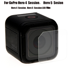 Mayitr 1pc New Camera Tempered Glass Lens With Screen Protector Film For Gopro Hero 4 5 Session