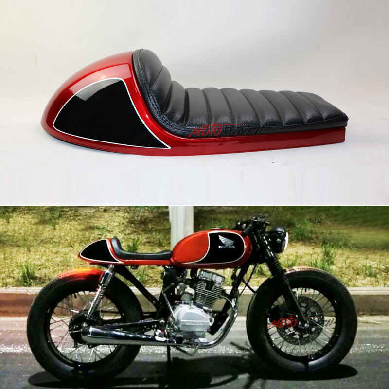 Motorcycle Seat Cover Modified For Honda Yamaha cafe racer seat Half pack hard shell 53CM Retro ...