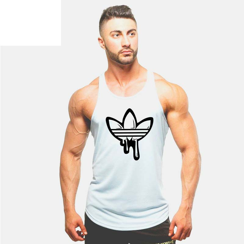 Summer Fashion 100% Cotton Red Clover Stranger Mens   Tank     Tops   Shirt Men's bodybuilding Fitness Vest TX97-An01-E