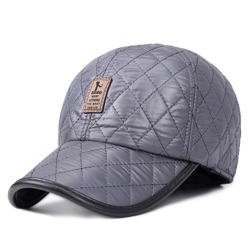 [AETRENDS] Vinter Mænd Cap Baseball Hat Plaid Stilfuldt med Øre - Beklædningstilbehør - Foto 6