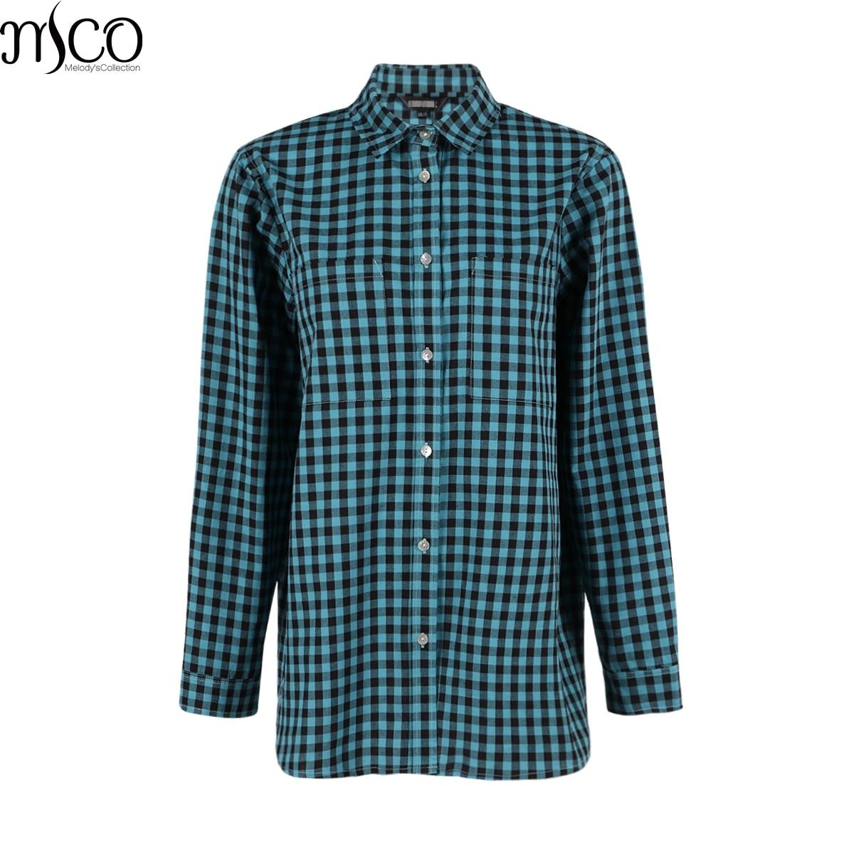 MCO Autumn Basic Plus Size Check Top For Office Ladies Simple Oversized Women Blouse Classic Plaid Shirt Big Size 5xl 6xl 7xl
