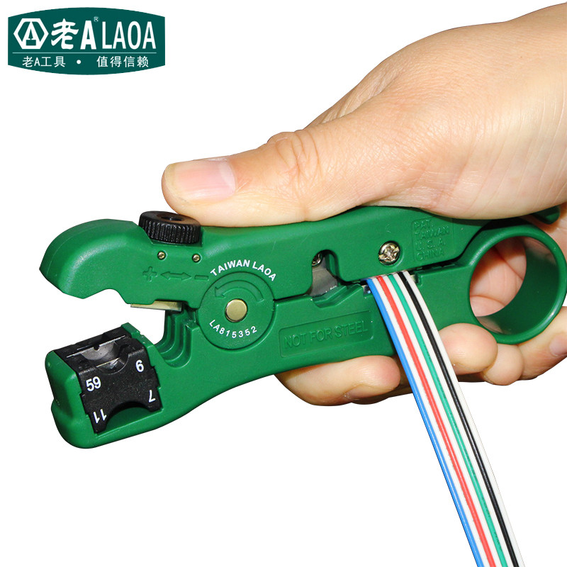 LAOA New Arrival Multifunction Coaxial RG59,6,7,11 Wire Stripper Blade replaceable Wire Cutter Made in Taiwan