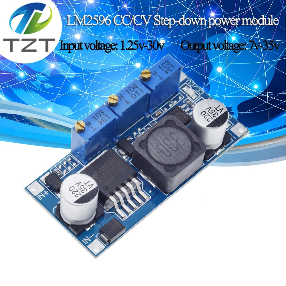 LM2596 LED Driver DC-DC Step-down Adjustable CC/CV Power Supply 7V-35V To 1.25V-30V 3A Voltage Regulator Converter Board goodLM2596 LED Driver DC-DC Step-down Adjustable CC/CV Power Supply 7V-35V To 1.25V-30V 3A Voltage Regulator Converter Board good