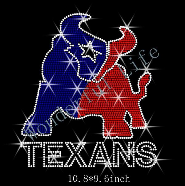 "Houston Designer: Free Shipping Rhinestone Transfer ""Houston Texans Full"