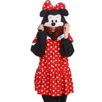 Flannel Adults Animal Pajamas Pyjama Anime Cartoon Cosplay Costumes Unisex Adult Onesies Minnie Mouse