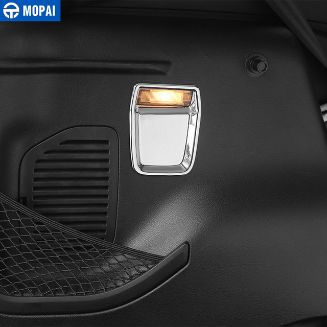 MOPAI Car Interior Rear Tail Trunk Box Light Lamp Decoration Cover Stickers for Jeep Renegade 2015 Up Car Accessories Styling