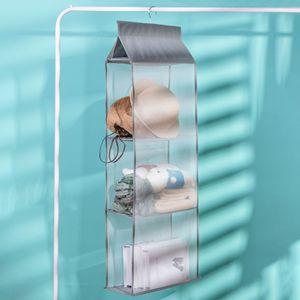 Image 4 - Wardrobe hanging organizer Tote bag hanging storage bag handbag organizer in the closet mesh purse handbag wardrobe organizer