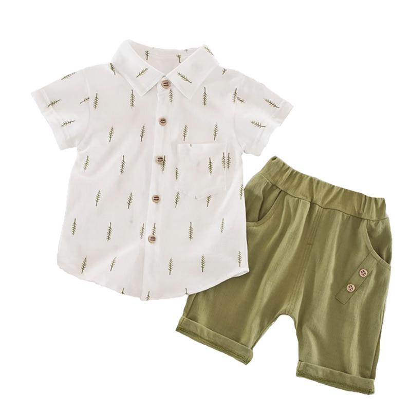 1-4Years Kids Clothes Print Shirt Shorts Pants Toddler Boy Clothing Baby Boys Clothes Set Children Clothing Kids Costume Fashion
