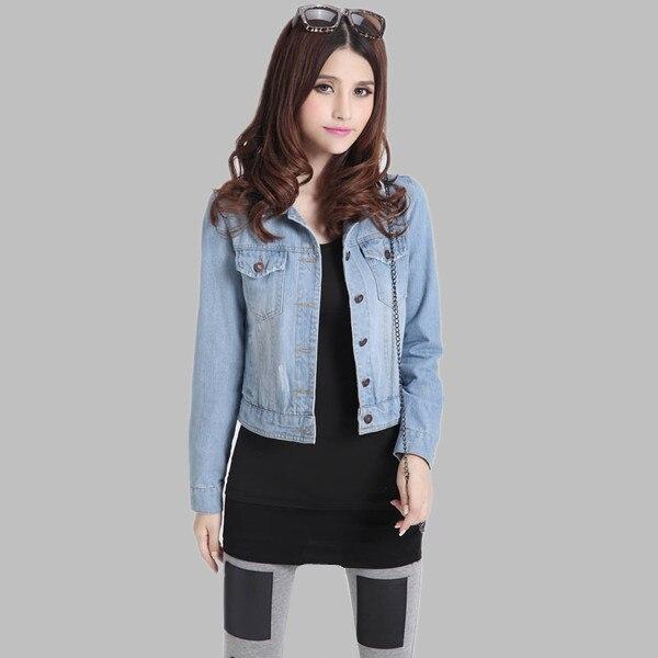 Plus Size Spring Autumn Long Sleeve Fashion Denim Jacket Women Jeans Jacket  Female Oversized Denim Coat Clothing 3XL 4XL E0481-in Basic Jackets from  Women s ... 634fb553edba