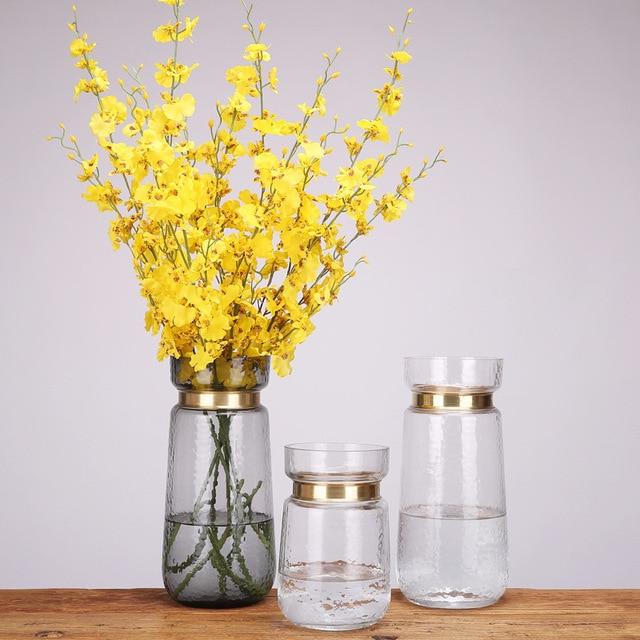 DONGLIN Modern simple living room household flower arrangement decoration European style transparent glass vase