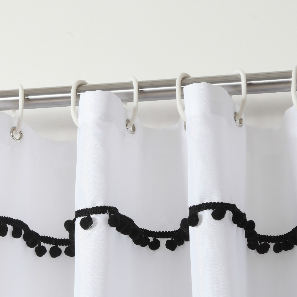 High end fashion bathroom Polyester cloth shower curtain New mildew ...