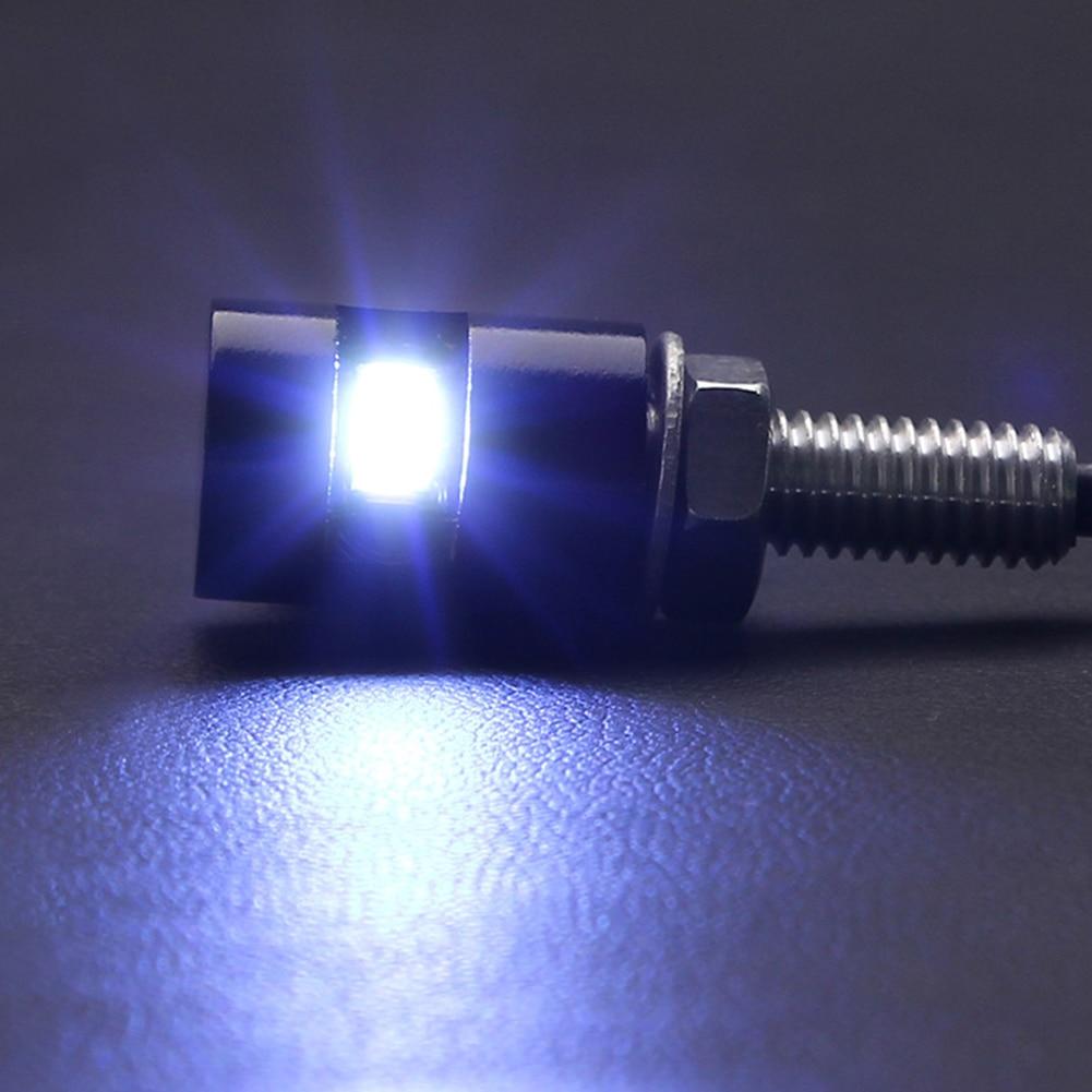 Universal 2Pcs 12V LED Motorcycle Car Number License Plate Bolt Screw Light Lamp For Car & Motorcycle
