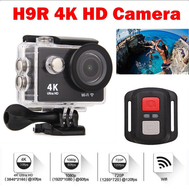 Free shipping!  4K H9R WiFi HD 1080P Action Sports Camera Waterproof With Remote Control
