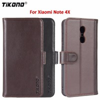 For Redmi Note 4X Leather Case Cover 5 5 Inch Tikono Genuine Cowhide Flip Leather Phone
