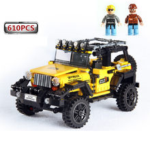 New 610pcs Offroad Adventure Set Legoings Model Building Blocks Car Series Bricks Toys For Kids Educational Kids Gifts(China)