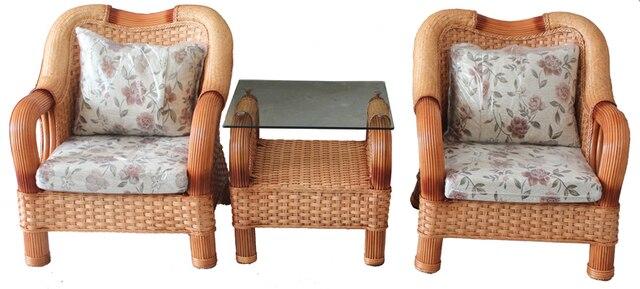 Southern Yiyuan Combination Coffee Table Sofa Set Rattan Chair Combination Rattan  Living Room Sofa Hotel Sofa