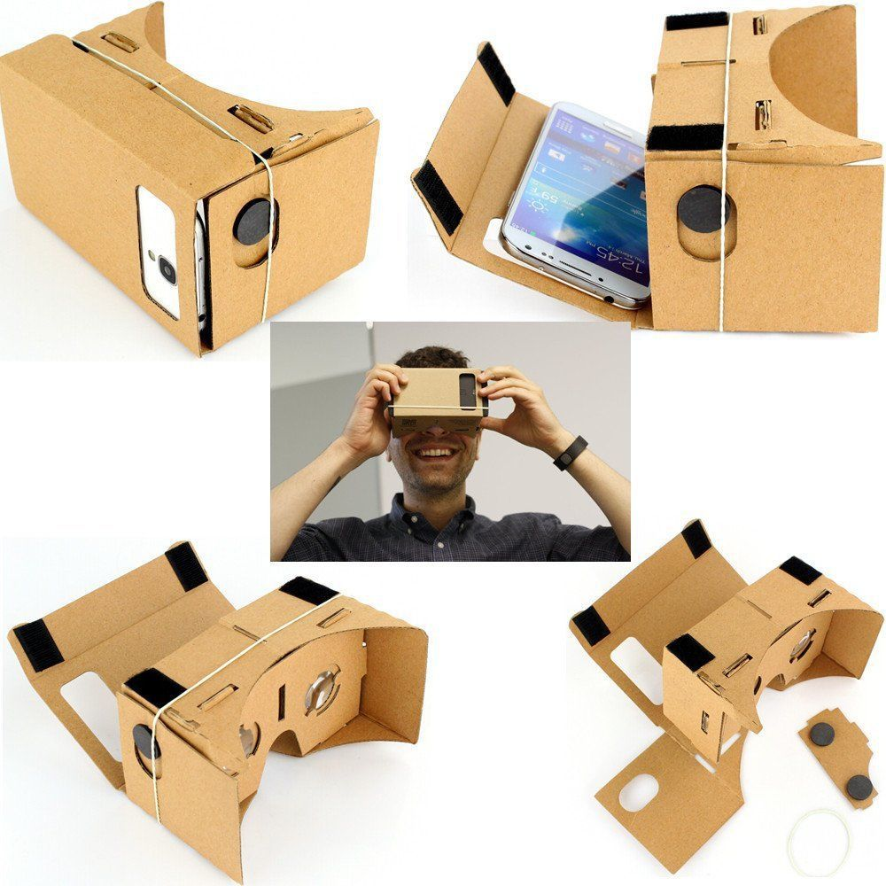 6 tommers Google Karton 3D Vr Virtual Reality Briller-1800