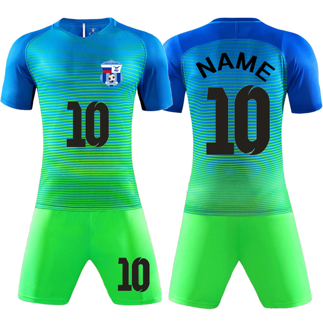70e0ece53 2018 New Children men sporting jersey 18-19 soccer tracksuits Survetement  Football Kits youth Futbol Training Uniforms sets DIY