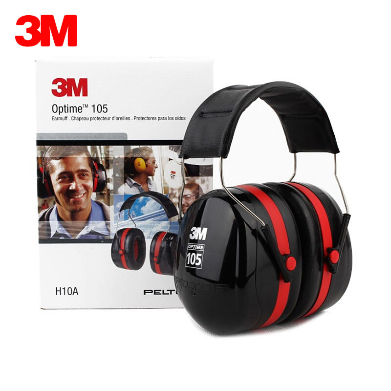 3M H10A Safety Protective Earmuffs Professional Soundproof Ear muffs Headset Sound Insulation Anti noise Hearing Protector