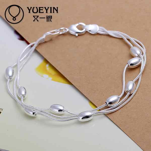 Luxury Fashion Brand New Design of Silver Plated Female Charm Cubic Zircon Crystal Pearl Jewelry Bead Bracelet