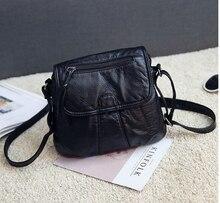 2017 мода женская небольшая сумочка мягкий pu кожа случайные плеча небольшой мешок женские сумки черный d6569