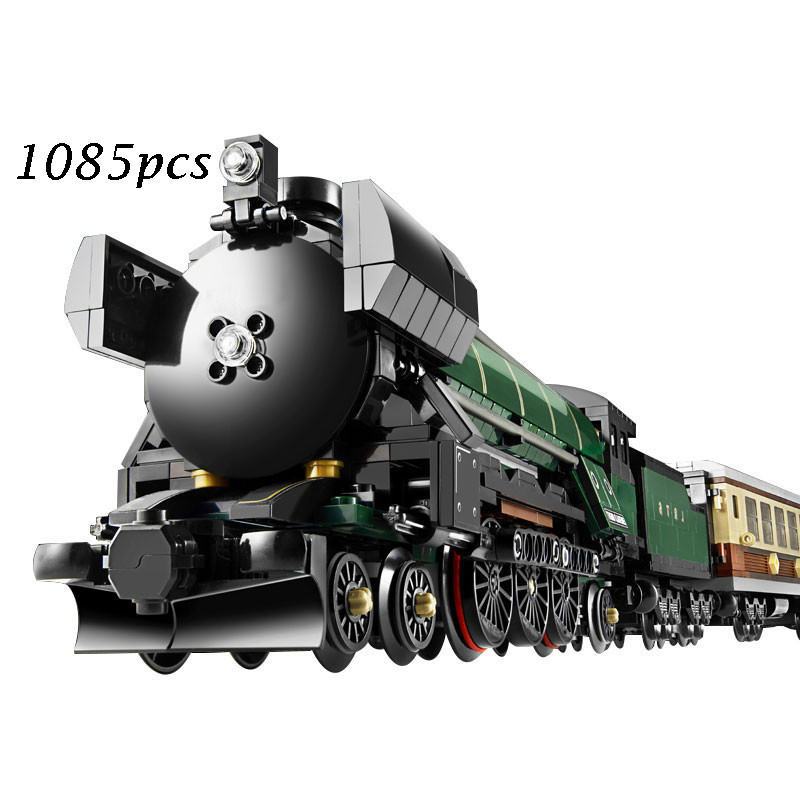 LEPIN 21005 1086 pcs Technic Series Emerald Night Train Model Building Kits Block Bricks Toys for Children gift Compatible 10194 lepin 22001 pirate ship imperial warships model building block briks toys gift 1717pcs compatible legoed 10210