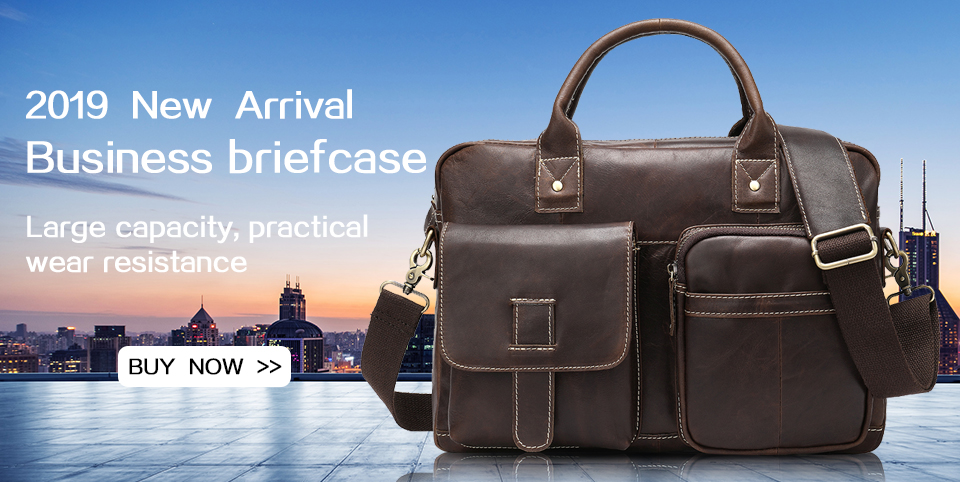 briefcase genuine leather