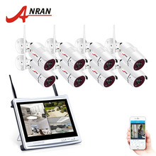ANRAN 8CH Wireless 12″LCD NVR Kit Surveillance Camera System 1080P HD H.264 IP  Outdoor Night Vision CCTV Security Camera System