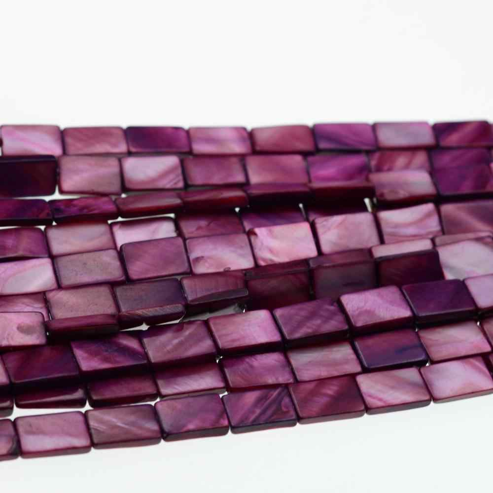 November Coupons Square 10x15mm Rectangle Purple Shell Beads Beads For Jewelry Making DIY Bracelet