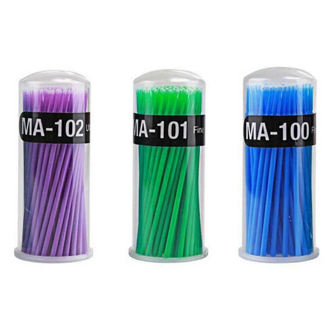 100pcs/bag Grafting Eyelash Cleaning Stick Disposable Tattoo Cotton Stick Makeup Special Unloading Eyelash Cotton Swab