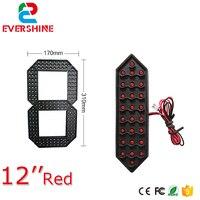 12 인치 빨간색 노란색과 흰색 세그먼트 led 디스플레이 보드 야외 LED 디지털 번호 모듈