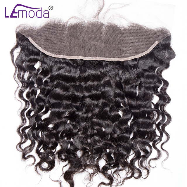 13×4 Lace Frontal Brazilian Water Wave Ear to Ear Pre Plucked Frontal Closure With Baby Hair 100% Remy Human Hair LeModa hair