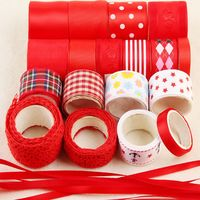 High Quality Mix Ribbon Set For Diy Handmade Gift Craft Packing Hair Accessories Materials Wedding Ribbon