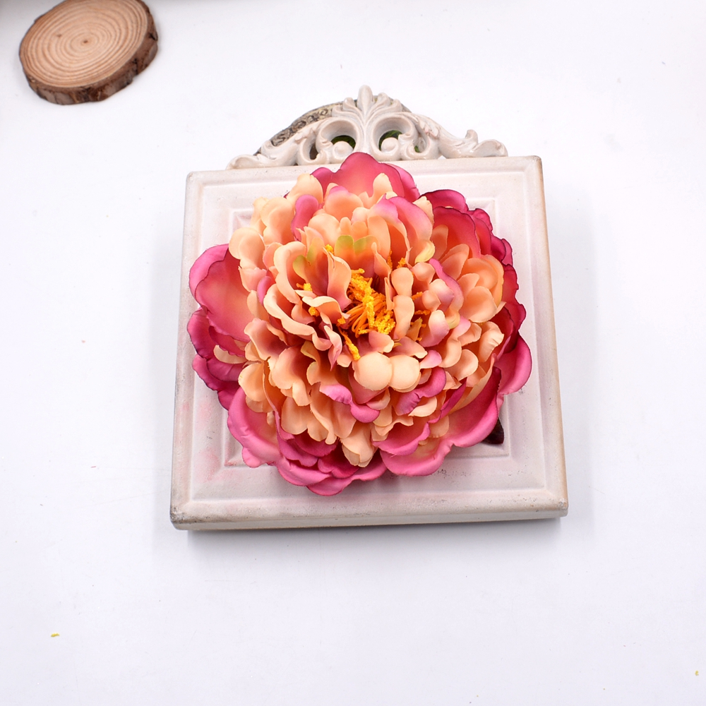 1pcs Super Large 14cm Big Peony Artificial Flowers For DIY Wedding Car Party Home Handmade Crown Decoration DIY Scrapbook Craft