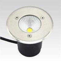 무료 배송 AC85-265V ip68 10 w 따뜻한 차가운 흰색 매장 된 램프 inground 조명 야외 cob led 지 하 램프 빛