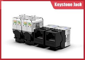 AMPCOM CAT7 RJ45 встроенный соединитель Keystone Jack, обшитый RJ45 прямой-через Keystone модуль адаптер муфты для настенной пластины
