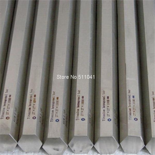 5шт Ti титан сплав металла 5 класс шестигранник Шестиугольные штанги ранги gr5 баров шестигранник S27*27мм*1000мм бесплатная доставка